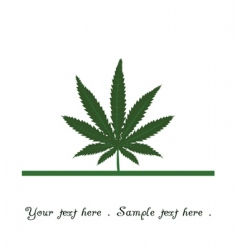 marijuana leaf icon vector image