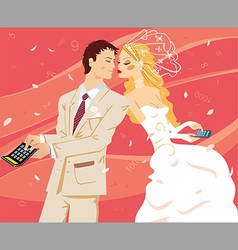 Wedding by calculation vector