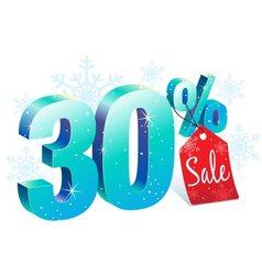 Winter sale 30 percent off vector