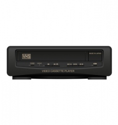 Video cassette player vector