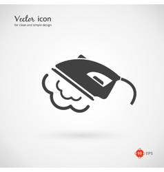 Gray iron appliance icon vector