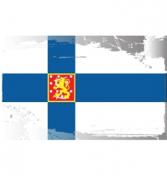Finland national flag vector