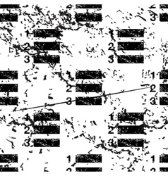 Numbered list pattern grunge monochrome vector