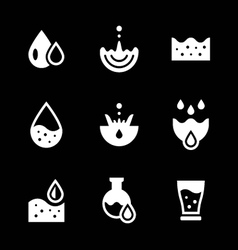 Set icons of water vector