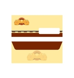 Rail road post envelope vector