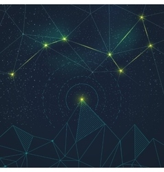 Space background with constellation vector