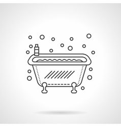 Bathtub icon flat line design icon vector