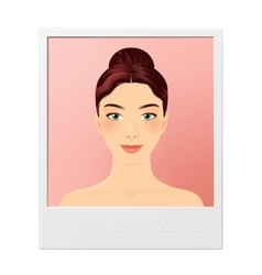 Young girl photo vector