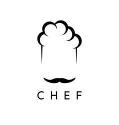 Abstract icon design template of chef vector