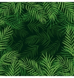 Frame tropical palm leaf vector