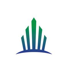 abstract arrow business finance logo vector image vector image