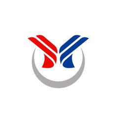 abstract shape business company logo vector image