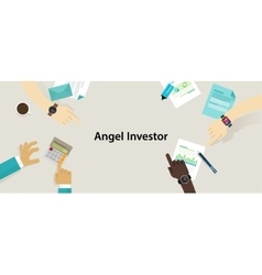 angel investor money fund management startup vector image vector image