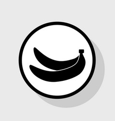 Banana simple sign flat black icon in vector