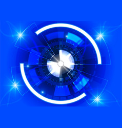 Blue circle technology background abstract vector