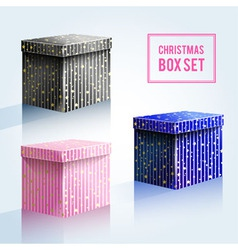 Boxes 12 vector image vector image