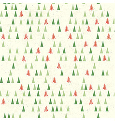 Christmas pattern with tree Seamless background vector image vector image