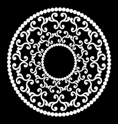Classic round ornament vector