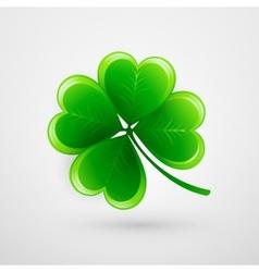 Clover leaf Saint Patricks Day vector image