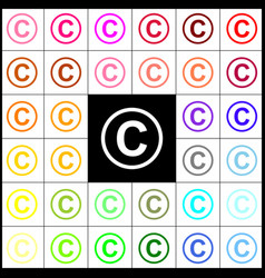 Copyright sign felt-pen 33 vector
