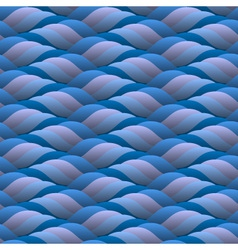 curled blue waves seamless vector image