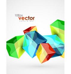 Digital cubes vector