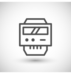 Electric meter line icon vector image vector image