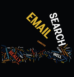 Email search what the text background word cloud vector