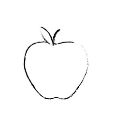 Figure delicious apple fresh fruit nutrition vector