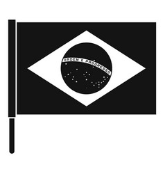 flag of brazil icon simple style vector image vector image