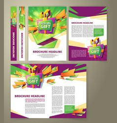 flyer for sales promotion brochure vector image vector image