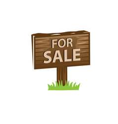 For sale sign vector