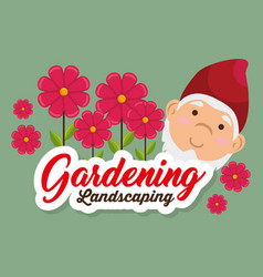 garden elf decorative icon vector image vector image