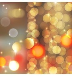 gold blurred lights vector image vector image