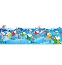 Horizontal winter banner vector image vector image