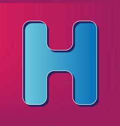 letter h sign design template element vector image