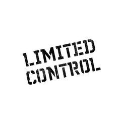 limited control rubber stamp vector image vector image