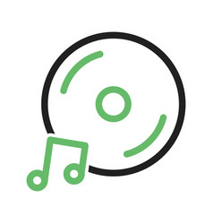 Music cd vector