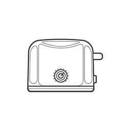 outline kitchen toaster vector image