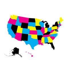 political map of usa united states of america in vector image vector image