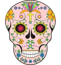 Scull MexicoPop-art vector image vector image