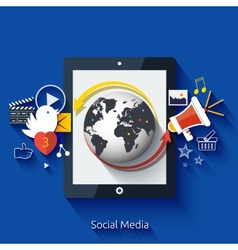 Social media Cloud of application icons vector image vector image