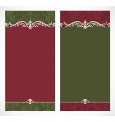 tall Christmas frames vector image vector image