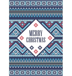 template card Merry Christmas in vector image vector image