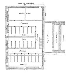The pennsylvanian barn threshing floor vintage vector