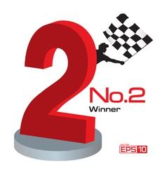 Trophy winner number 2 vector