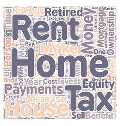 Why own a home instead of rent text background vector