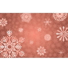 Winter holidays snowy golden background vector image