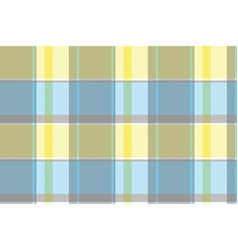 Yellow blue gray pixel plaid seamless pattern vector