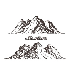 Mountains sketch Hand drawn vector image